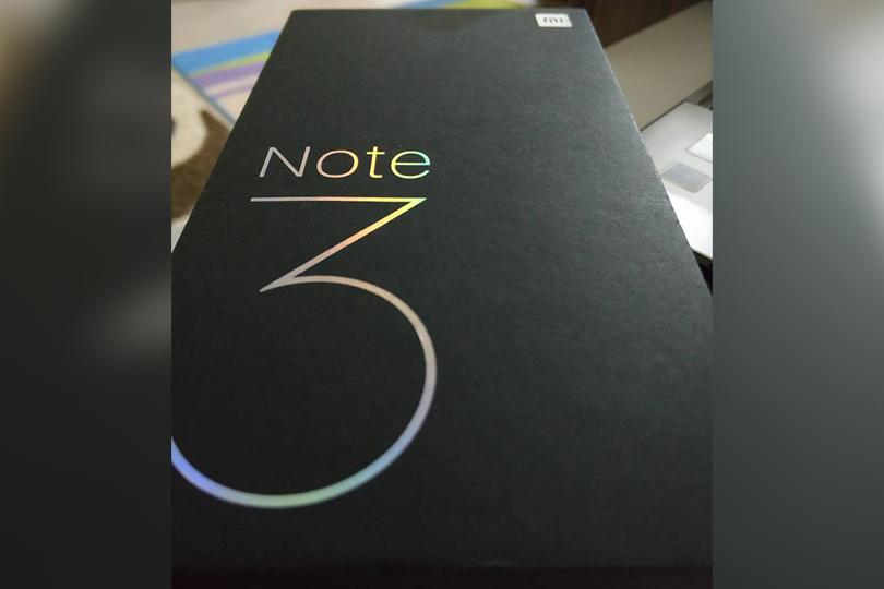 Xiaomi Mi Note 3 kutusu